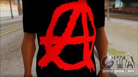 Anarhcy T-Shirt v1 para GTA San Andreas tercera pantalla