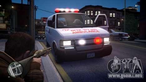 Israel MDA Ambulance para GTA 4 visión correcta