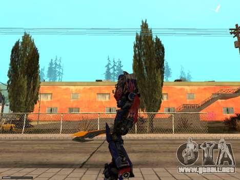 Optimus Sword para GTA San Andreas segunda pantalla