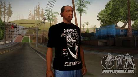 Avenged Sevenfold Reaper Reach T-Shirt para GTA San Andreas