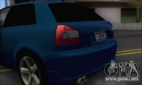 Audi A3 1999 para GTA San Andreas vista hacia atrás