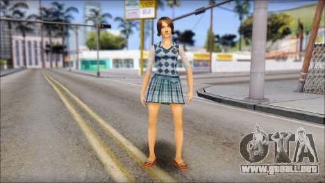 Pinky from Bully Scholarship Edition para GTA San Andreas segunda pantalla