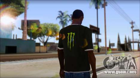 Monster T-Shirt Black para GTA San Andreas segunda pantalla