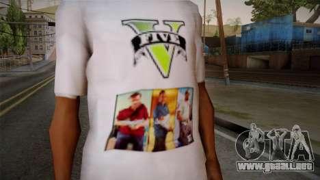 GTA 5 MFT T-Shirt para GTA San Andreas tercera pantalla