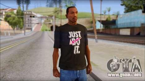 Just Do It NIKE Shirt para GTA San Andreas