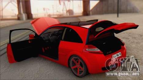 Renault Megane II HatchBack para GTA San Andreas vista hacia atrás