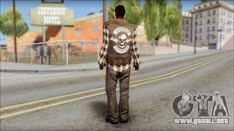 Biker from Avenged Sevenfold para GTA San Andreas segunda pantalla