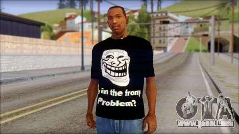 Trollface and Forever Alone T-Shirt para GTA San Andreas