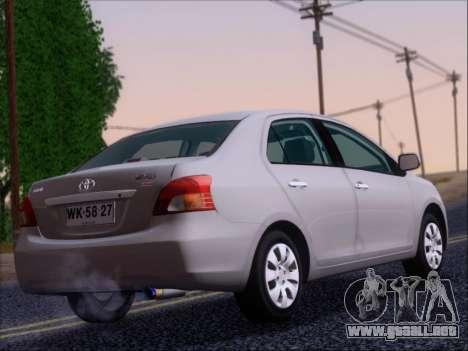 Toyota Yaris 2008 Sedan para la visión correcta GTA San Andreas