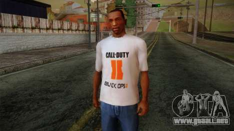 COD Black Ops II White Fan T-Shirt para GTA San Andreas