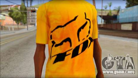 Cj Fox T-Shirt para GTA San Andreas tercera pantalla