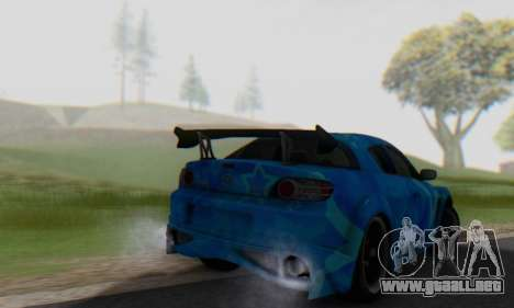 Mazda RX-8 VeilSide Blue Star para GTA San Andreas vista hacia atrás