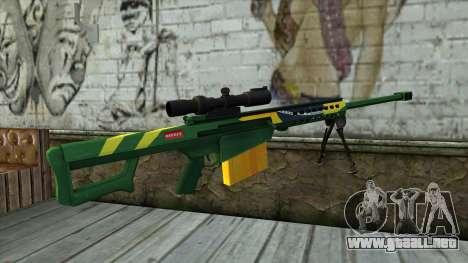 M82A3 Brazil Camo para GTA San Andreas segunda pantalla