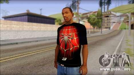 Spiderman 3 T-Shirt para GTA San Andreas