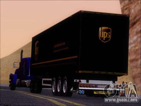Прицеп United Parcel Service para vista lateral GTA San Andreas