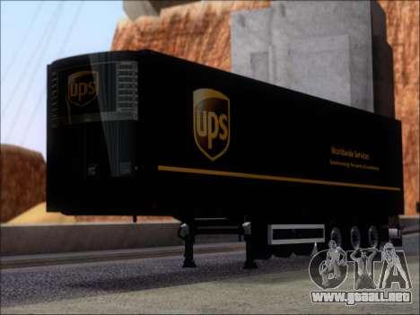 Прицеп United Parcel Service para GTA San Andreas left