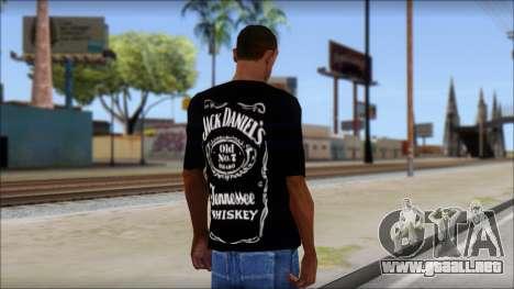 Jack Daniels Fan T-Shirt Black para GTA San Andreas segunda pantalla