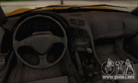 Mazda RX-7 1991 para visión interna GTA San Andreas