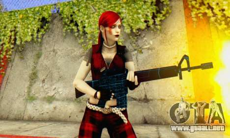 Red Girl Skin para GTA San Andreas quinta pantalla