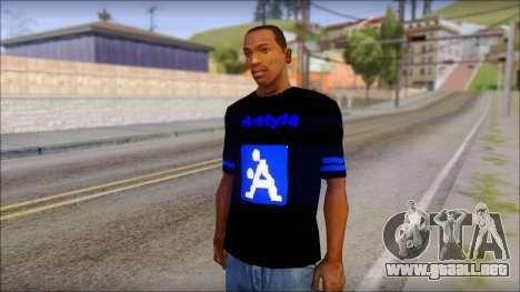 T-Shirt A-Style para GTA San Andreas