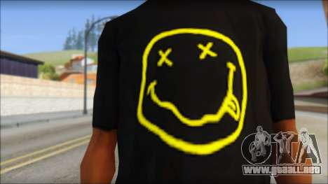 Nirvana T-Shirt para GTA San Andreas tercera pantalla