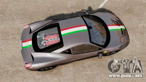 Ferrari 458 Italia Speciale Novitec Rosso para GTA 4 visión correcta