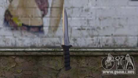 Knife from Resident Evil 6 v1 para GTA San Andreas segunda pantalla
