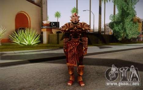 Kratos God Armor para GTA San Andreas