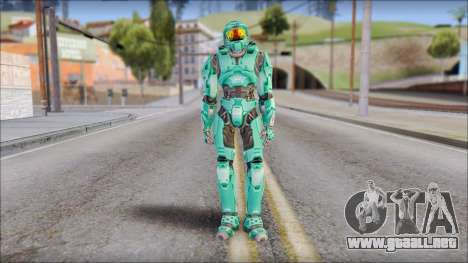 Masterchief Blue-Green from Halo para GTA San Andreas segunda pantalla