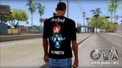 Papa Roach The Connection Fan T-Shirt para GTA San Andreas segunda pantalla