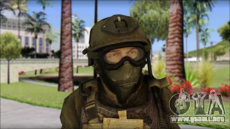 Roach Anderson in Dark Suit from MW2 para GTA San Andreas tercera pantalla