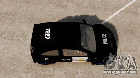 Opel Corsa Police para GTA 4 visión correcta