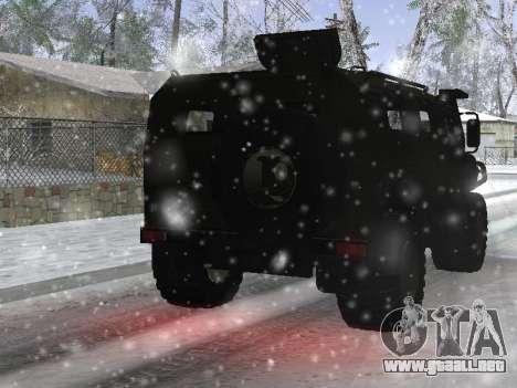 GAS 2975 Tigre para GTA San Andreas vista hacia atrás