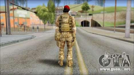 Desert Vlad GRU from Soldier Front 2 para GTA San Andreas segunda pantalla