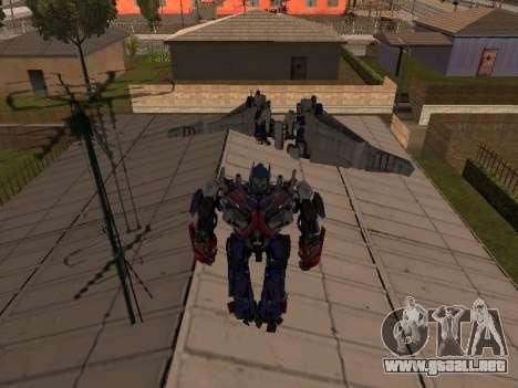 Optimus Jetpack para GTA San Andreas tercera pantalla