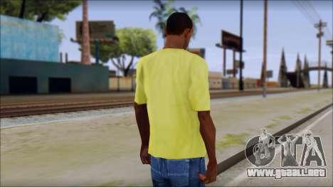 Waffle T-Shirt para GTA San Andreas segunda pantalla
