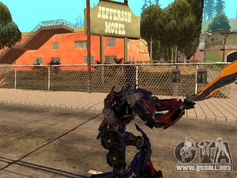 Optimus Sword para GTA San Andreas sexta pantalla