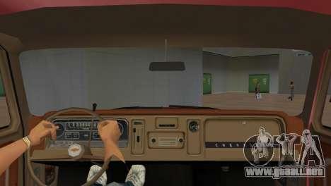 Chevrolet C10 para GTA Vice City visión correcta