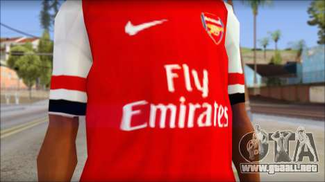 Arsenal FC Giroud T-Shirt para GTA San Andreas tercera pantalla