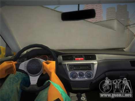 Mitsubishi Lancer Evolution 8 2004 para GTA Vice City visión correcta