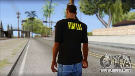 Nirvana T-Shirt para GTA San Andreas segunda pantalla