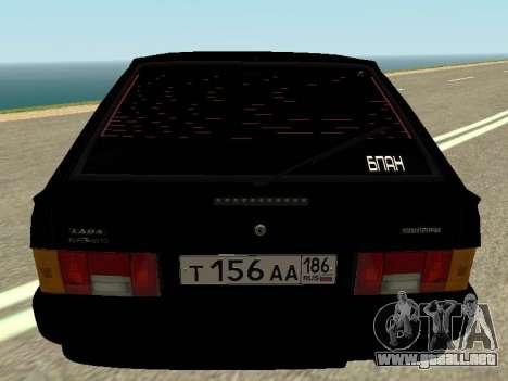 VAZ 2114 para GTA San Andreas vista hacia atrás