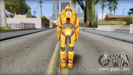 Masterchief Orange para GTA San Andreas tercera pantalla