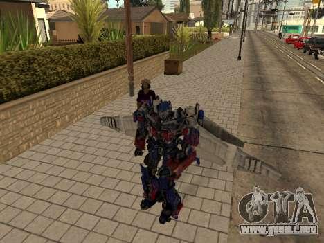 Optimus Jetpack para GTA San Andreas quinta pantalla