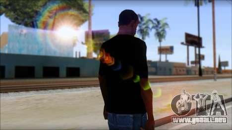 Red Pentagram Shirt para GTA San Andreas segunda pantalla