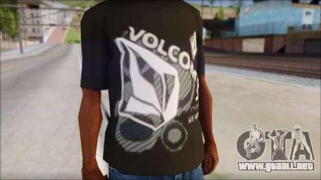 Volcom T-Shirt para GTA San Andreas tercera pantalla