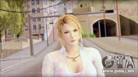 Sarah from Dead or Alive 5 v4 para GTA San Andreas tercera pantalla