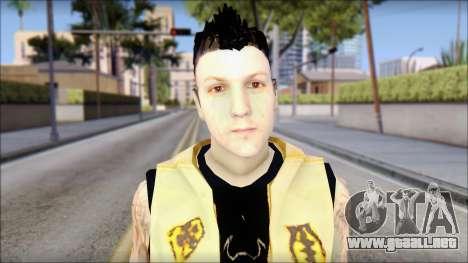 Joel from Good Charlotte para GTA San Andreas tercera pantalla