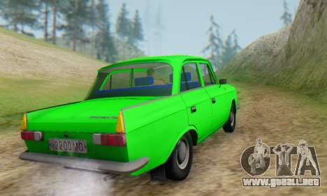 Moskvich 412 [DSA] para GTA San Andreas vista hacia atrás