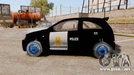 Opel Corsa Police para GTA 4 left
